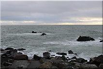 NW9954 : Rocks at Portpatrick by Billy McCrorie