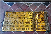 ST6316 : Sherborne Abbey: Ethelbald and Ethelbert memorial brass by Michael Garlick