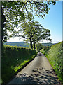 SO4286 : Country road near Wistanstow by Stephen Richards