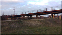 SE4326 : North end of the Castleford Viaduct by Phil Champion