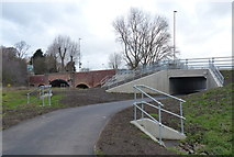 SK5907 : New path and underpass at Loughborough Road by Mat Fascione