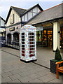 SJ4174 : Floral Telephone Kiosk at Cheshire Oaks by David Dixon