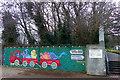 TQ3470 : Mural, Crystal Palace Park by Robin Drayton