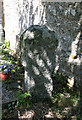 SX0071 : Old Wayside Cross - moved to Engloshayle churchyard by Milestone Society