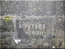 ST5973 : Old Boundary Marker by Milestone Society