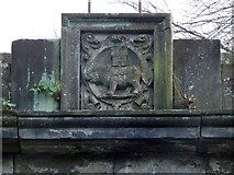NS3975 : Dumbarton Prison: Burgh Arms by Lairich Rig