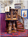 SJ0075 : Oak Pulpit at the Marble Church by David Dixon