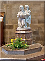 SJ0075 : The Font, St Margaret's Church by David Dixon