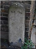TQ2182 : Old Boundary Marker by the A4000, Old Oak Lane, Hammersmith by Milestone Society