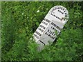 SE3345 : Old Milestone by the A659, near New Laithe Farm, Harewood Parish by C Minto