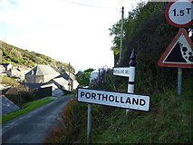 SW9541 : Old Direction Sign - Signpost in Portholland, Veryan Parish by Milestone Society