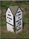 SN0403 : Old Milestone by the A4075, Carew Meadows, Carew Parish by Milestone Society