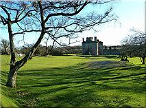 NY0265 : Caerlaverock Castle Location by Mary and Angus Hogg