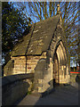 SE3028 : Lychgate of St Mary's church, Middleton  by Stephen Craven