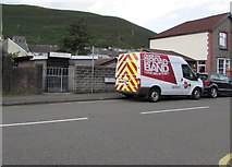 SS9389 : Virgin Media van, High Street, Ogmore Vale by Jaggery