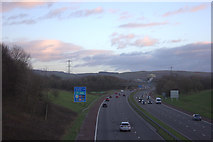 SD4953 : Southbound M6 from Whams Lane bridge by Robert Eva