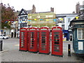 SE3171 : K6  Telephone Kiosks, Market Place, Ripon by Stephen Armstrong