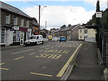 SS9389 : Bridge Street bus stop, Ogmore Vale by Jaggery