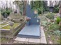 TQ2886 : The grave of Patrick Caulfield in Highgate Cemetery by Marathon