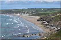 SM8519 : Newgale Sands from Black Cliff by Simon Mortimer
