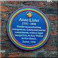 SE6052 : Rainbow plaque to Ann Lister at Holy Trinity Church, York by Phil Champion