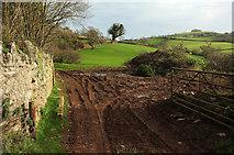 SX8460 : Field entrance, Higher Longcombe by Derek Harper