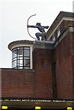 TQ2789 : East Finchley station: the archer sculpture by Christopher Hilton