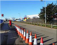 TQ0975 : Cones on Viscount Way by Des Blenkinsopp