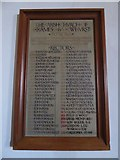 TQ7924 : St James the Great, Ewhurst Green: incumbency board by Basher Eyre