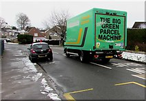 ST3091 : The Big Green Parcel Machine, Almond Drive, Malpas, Newport by Jaggery