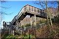 NT3361 : Footbridge over the railway, Gore Glen by Jim Barton
