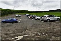 SX1061 : Restormel Castle car park by Michael Garlick