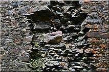 SX1061 : Restormel Castle: The Kitchen fireplace (detail) 2 by Michael Garlick