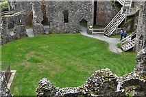 SX1061 : Restormel Castle: The Kitchen and Gatehouse from the Wall-walk by Michael Garlick