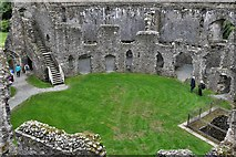 SX1061 : Restormel Castle: The best view of the Well from the Wall-walk by Michael Garlick