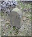 SE1442 : Old Boundary Marker on Knapley Hill, Hawksworth Moor by Milestone Society