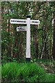 TQ5637 : Old Direction Sign - Signpost by Milestone Society