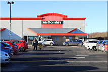 NS2742 : McDonald's at Hawkhill Retail Park, Stevenston by Billy McCrorie