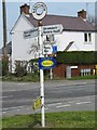 SJ4222 : Old Direction Sign - Signpost by Milestone Society