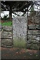 ST0106 : Old Milestone by the B3181, Exeter Road, Cullompton by A Rosevear