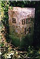 NU1034 : Old Milepost by the former A1, north of Belford by IA Davison