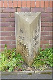 SJ3464 : Modern Facsimile Milestone by the A5104, Chester Road, Broughton by Milestone Society