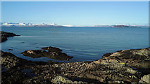 NG7630 : Coast near Portnacloich by Julian Paren