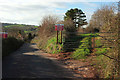 SX8966 : Gate and track by Kingskerswell Road by Derek Harper