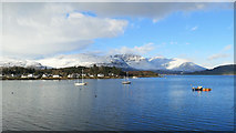 NG8033 : Plockton seen from the train between Plockton and Duncraig by Julian Paren