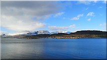 NG8335 : Ardaneaskan seen across Loch Carron by Julian Paren