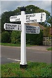TQ8224 : Old Direction Sign - Signpost by Dixter Road, Northiam parish by Milestone Society