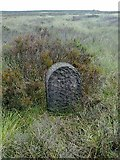 SD9620 : Old Boundary Marker by Round Hills, White Holme Moss by Milestone Society