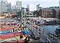 SP0686 : Birmingham, canal basin by Mike Faherty