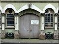 SK5804 : 11-13 Wellington Street, Leicester – courtyard gate by Alan Murray-Rust